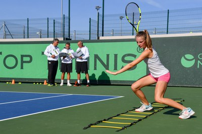 Top Tennis fitness on court