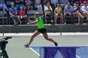 Elitsa KOSTOVA .   – Elisa Kostova heating the forehand during the final  WTA 25.000$ Arcadi Manchon.