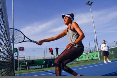 Anne-Sophie y Arcadi entrenamiento en Pista. Centro Top Tennis