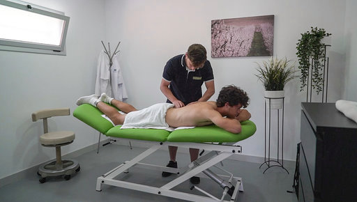 Tratamiento de fisioterapia en el Centro Top Tennis
