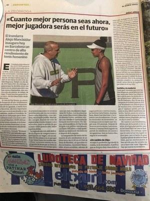 Entrevista a Alejo Mancisidor en el Diario Vasco