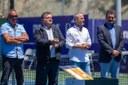 Autoridades locales durante la entrega de Pemios. –Instalaciones de Top Tennis.