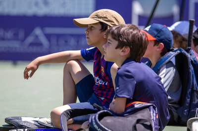 Alumnos de la Escuela de Tenis de Top Tennis.