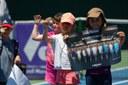 Jóvenes promesas de Top Tennis. –Participación de jugadores de la Escuela de Top Tennis en el Torneo de Mini-Tennis realizado durante el WTA 25.000$.
