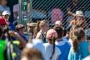 Participación de los jóvenes jugadores de Top Tennis. –Fiesta del Tennis de los jóvenes jugadores, durante el transcurso del WTA. Instalaciones de Top Tennis.
