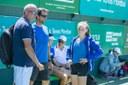 Alejo Mancisidor Sub-Director del Torneo –Alejo Mancisidor junto a Toni Martinez, Preparador Físico, y la jugador de Top Tennis.