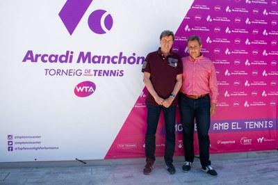 Visita de Javier Soler durante el desarollo del Torneo.